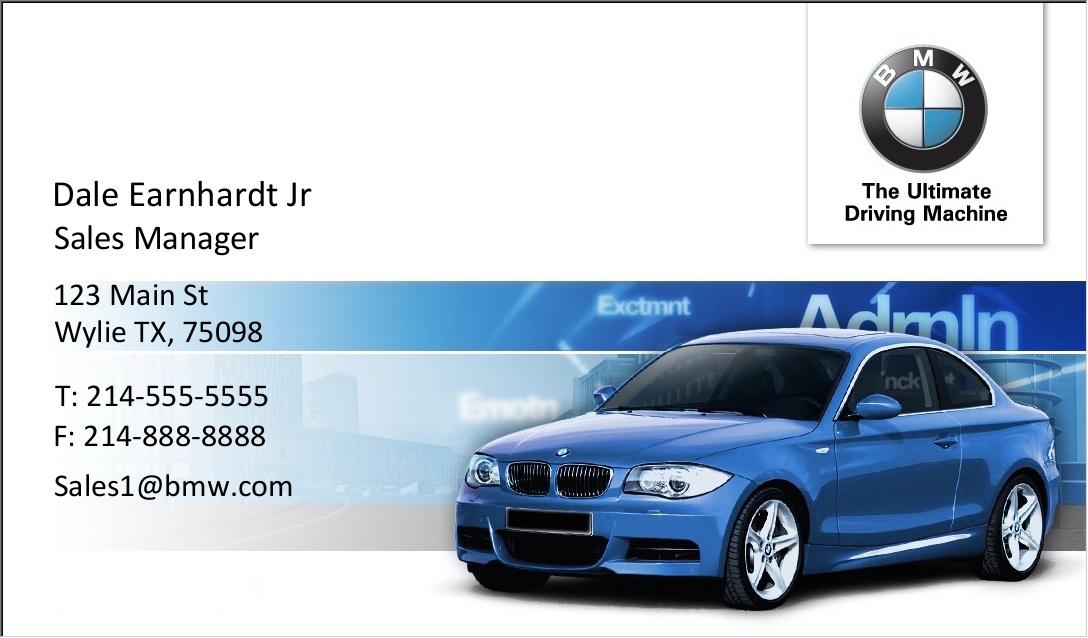 BMW Business Card Plain – BMW Sales